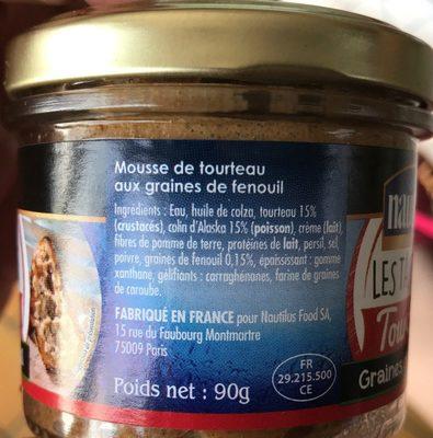 Les tartines - tourteau graines de fenouil - Ingrediënten