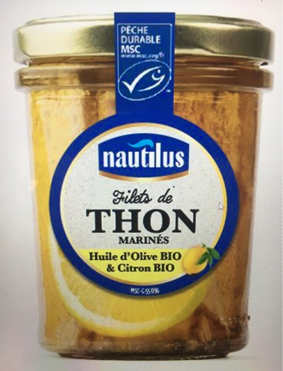 Filets de thon MSC HO bio et citron bio - Product