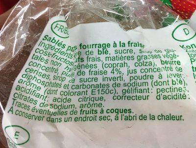 Lunettes de Romans fraise - Ingrédients - fr