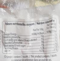 Lunettes de Romans fraise - Informations nutritionnelles - fr