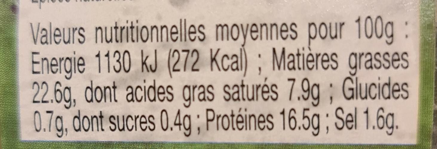 Terrine Morvandelle au marc de Bourgogne - Nutrition facts - fr