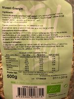 Muesli Energie - Informations nutritionnelles