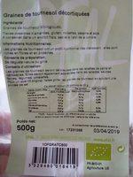Graines de tournesol décortiquées bio - Produit - fr