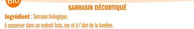 Sarrasin Décortiqué - Ingredientes - fr