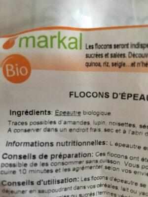 Flocons d'épeautre - Ingredients - fr