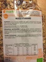 Muesli standard - Ingrediënten