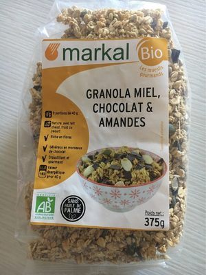 Granola Miel, Chocolat et Amandes - Product - fr