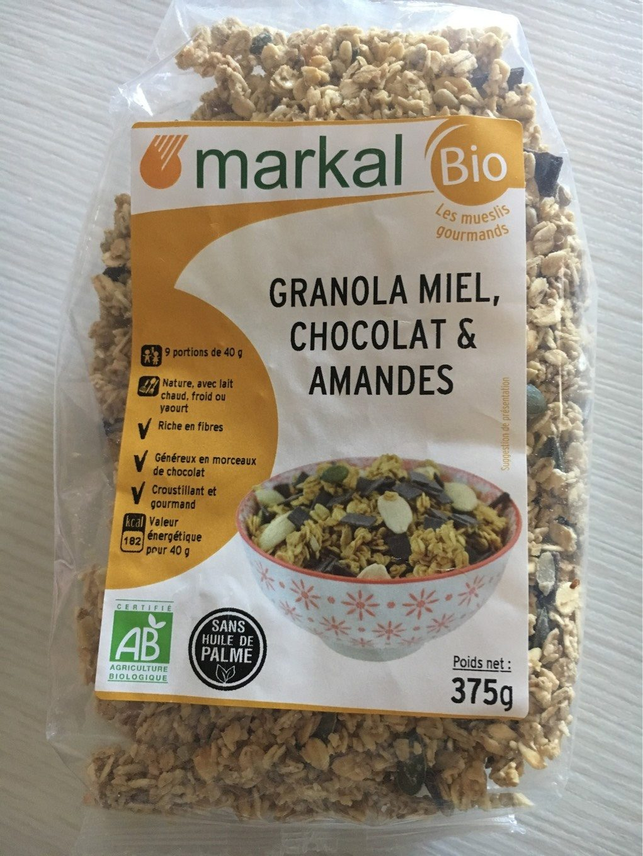 Granola Miel, Chocolat et Amandes - Produit - fr