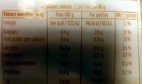 Flocons d'avoine précuits en petit morceaux - Informations nutritionnelles - fr