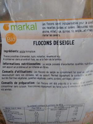 Flocons de Seigle - Ingredients
