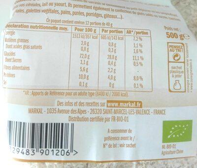 Flocons de sarrasin - Ingrediënten - fr