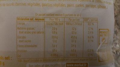 Flocons de sarrasin - Voedingswaarden - fr