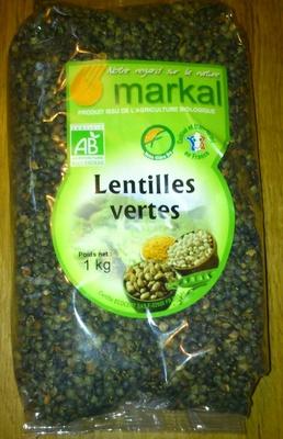 Lentilles vertes Bio - 1 kg - Markal - Product - fr