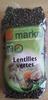 Lentilles vertes Bio - 500 g - Markal - Produit