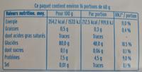 Riz long blanc - Informations nutritionnelles - fr