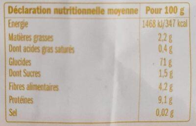 Farine de sarrasin intégrale - Voedingswaarden - fr