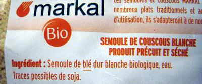 Couscous blanc - Ingrédients - fr