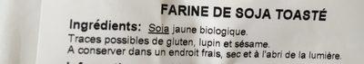 Farine de soja toasté - Ingredients