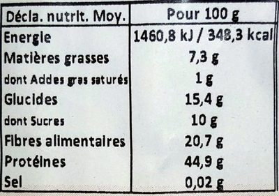 Farine de soja toasté - Nutrition facts