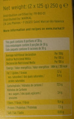 Flocons De Pomme De Terre - Informations nutritionnelles - fr