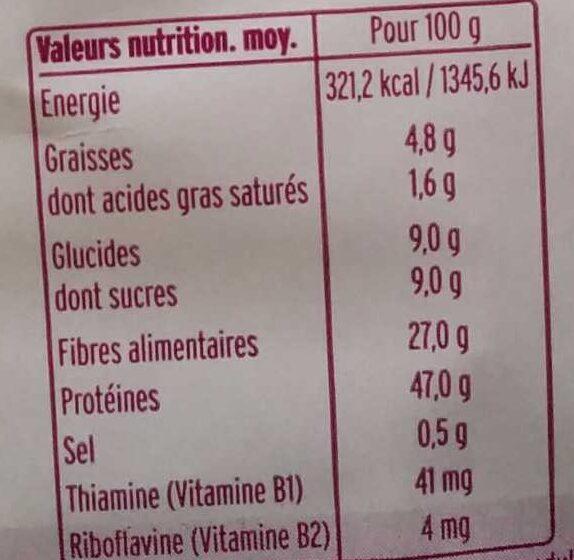 Levure maltée - Nutrition facts - fr