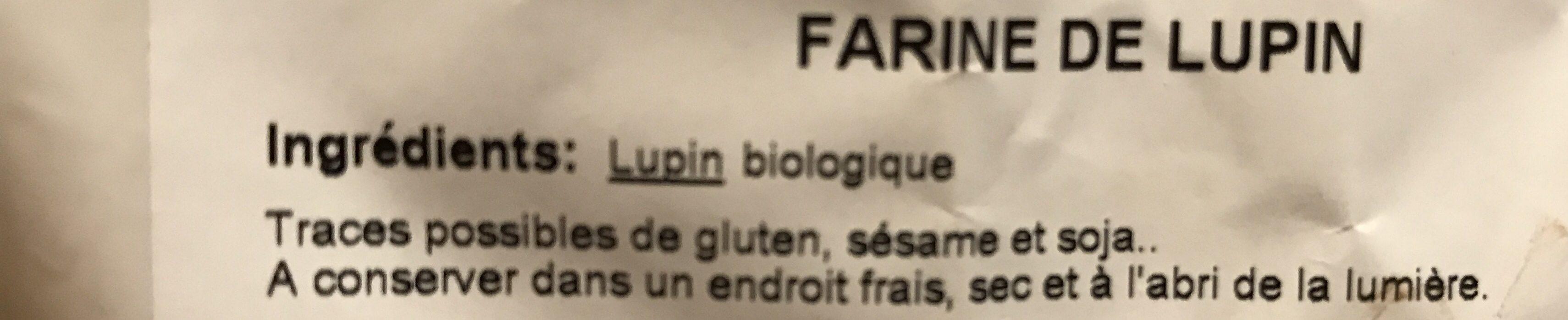 Farine De Lupin Bio - Ingredienti - fr