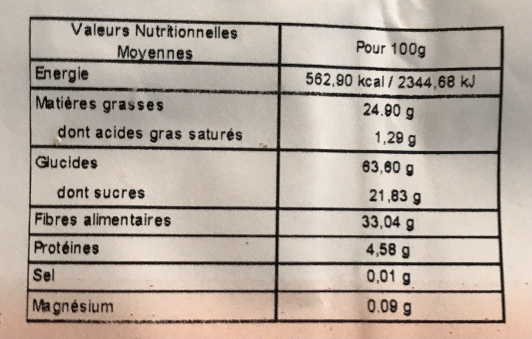 Farine De Souchet - 250G - Markal - Voedigswaarden