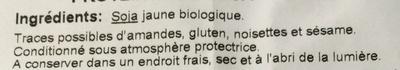 Protéines de soja gros morceaux - Ingrédients