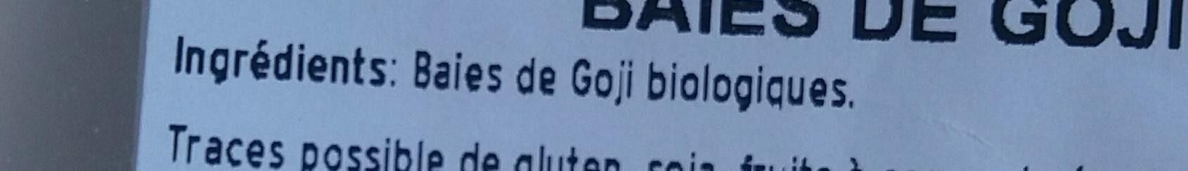 Baies de Goji - Nutrition facts - fr