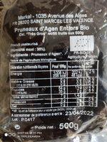 PRUNEAUX D'AGEN ENTIERS - Informations nutritionnelles - fr