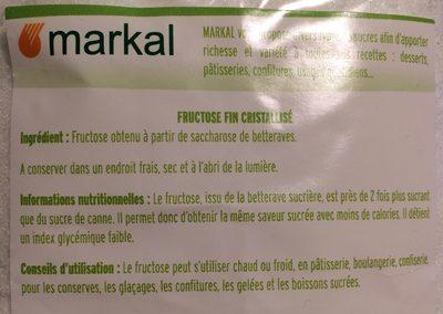 Fructose cristallisé - Ingrédients - fr
