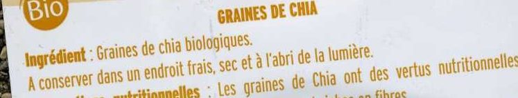 Graine de chia - Ingrédients - fr