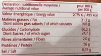 Galettes Bretonnes Pur Beurre Bio - 130G - Bioshok - Informations nutritionnelles - fr