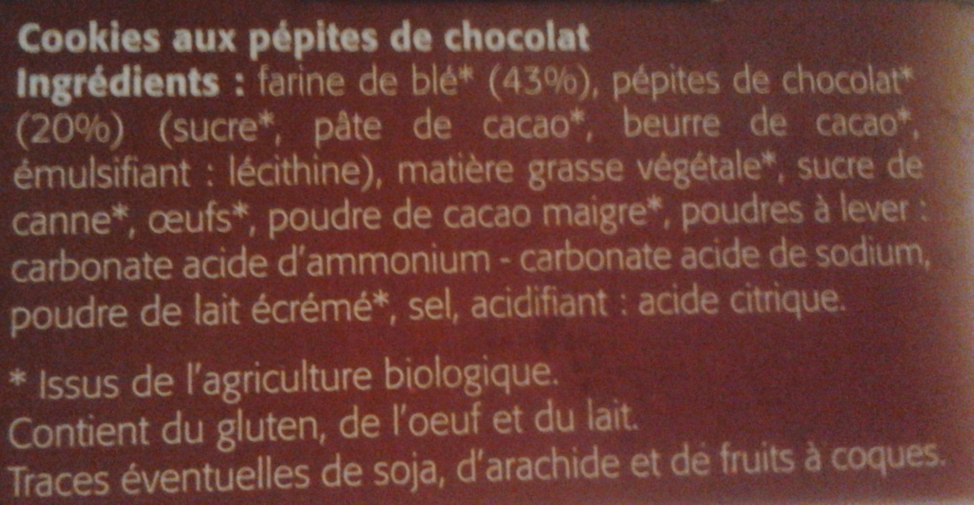 Cookies pépites de chocolat - Ingrédients - fr