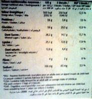 Cookies pépites de chocolat - Informations nutritionnelles - fr