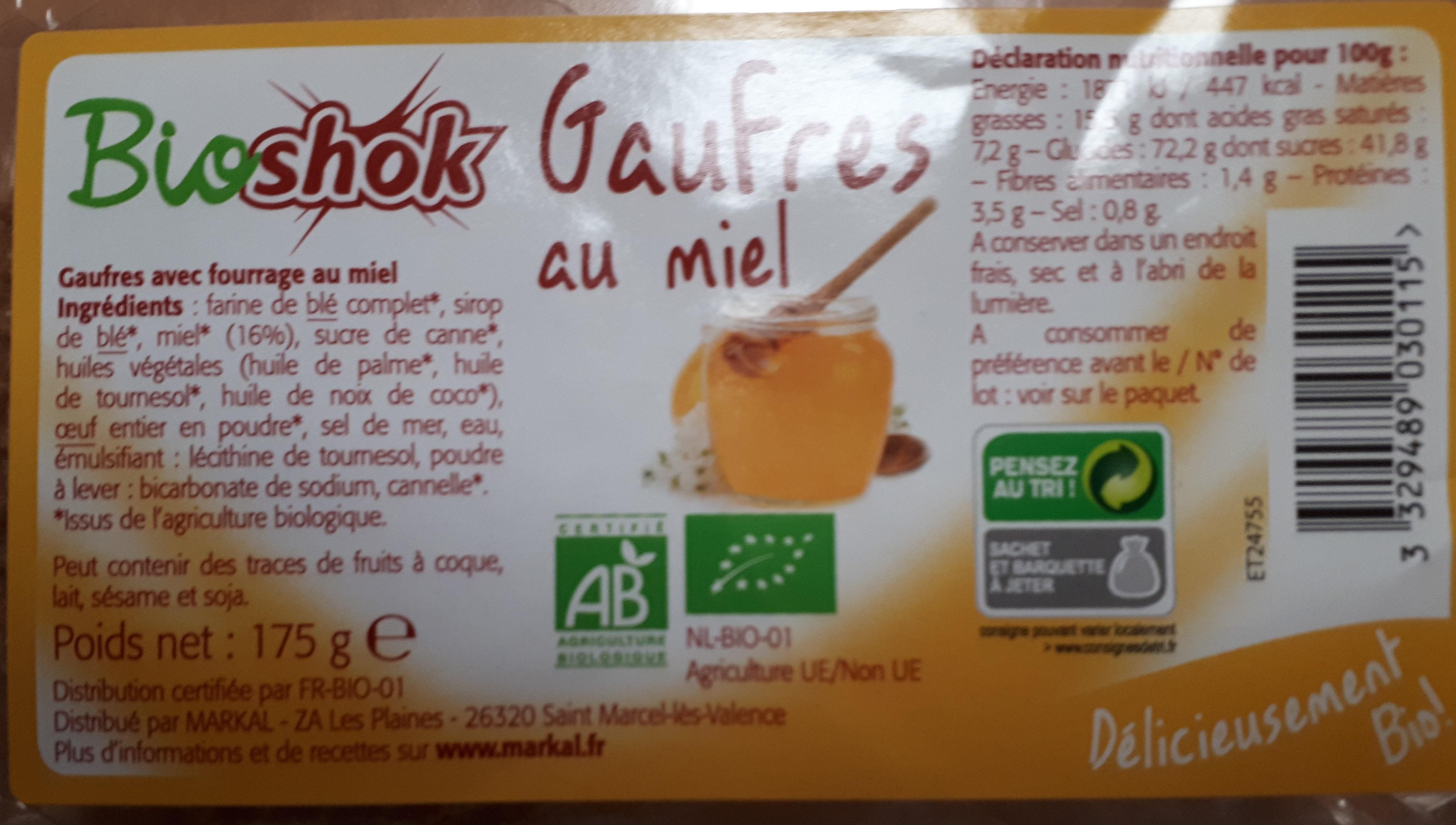 Gaufres Au Miel Bio - 175G - Bioshok - Produit - fr
