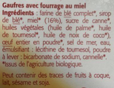 Gaufres Au Miel Bio - 175G - Bioshok - Ingrédients - fr