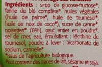 Gaufres au Noisettes - Ingrédients - fr