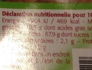 Gaufres au Noisettes - Informations nutritionnelles - fr