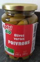 Olives vertes aux poivrons - Produit - fr