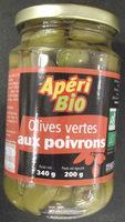 Olives vertes aux poivrons - Produit
