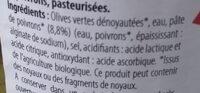Olives vertes aux poivrons - Ingrédients - fr