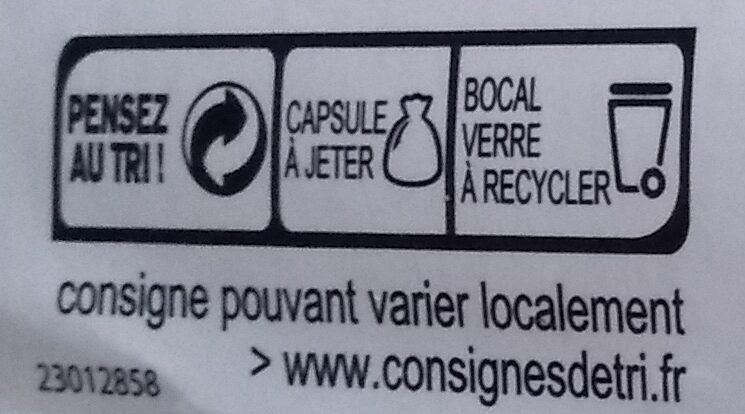 Olives vertes aux poivrons - Instruction de recyclage et/ou informations d'emballage - fr