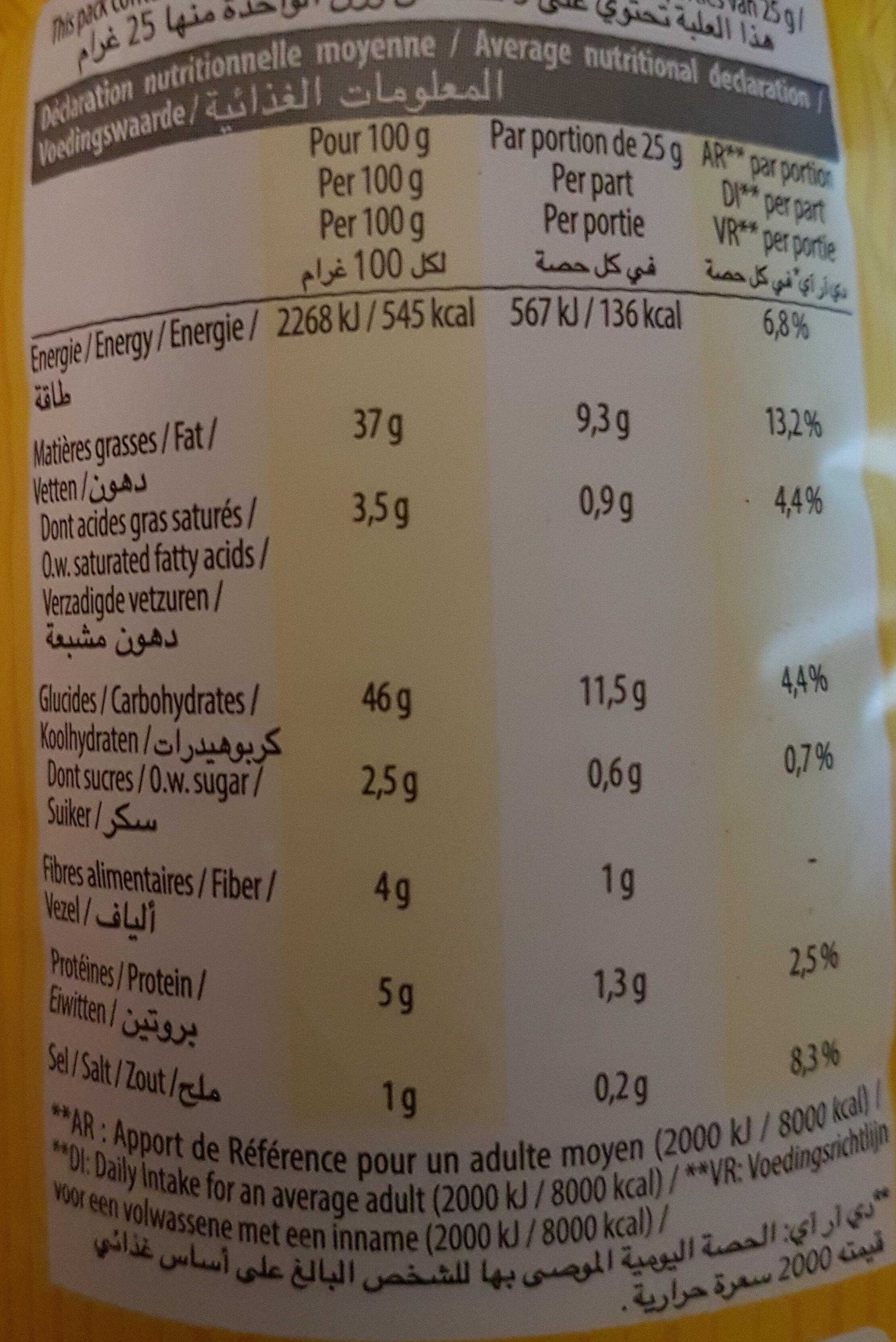 Biscuits Apéritif Bio - Nutrition facts