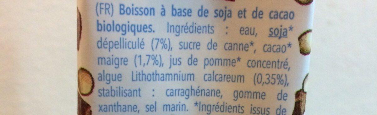 Soja cacao - Ingrédients - fr