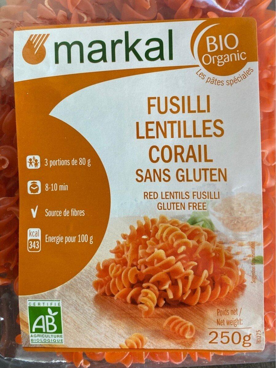Fusilli lentilles corail sans gluten - Product - fr
