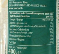 Pois chiches bio - Valori nutrizionali - fr