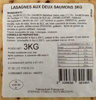 Lasagnes aux deux saumons - Ingredients - fr