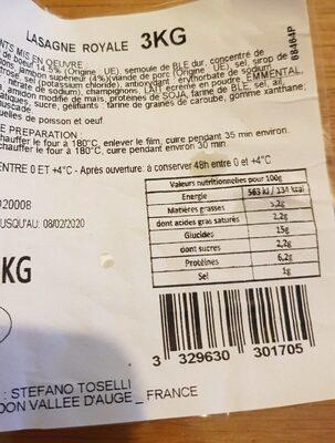 Lasagne royale - Product - fr