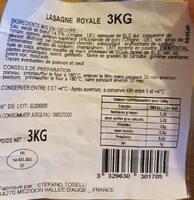 Lasagne royale - Nutrition facts - fr